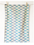 INK FISH Cotton tea towel