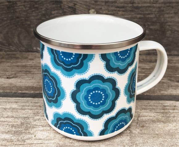 JEMIMA all over pattern - Enamel Camping mug