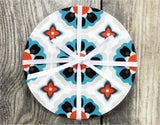 WALLPAPER FLOWERS Set of 4 Round Coasters