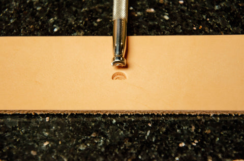 #2 Crescent Border Leather Stamp