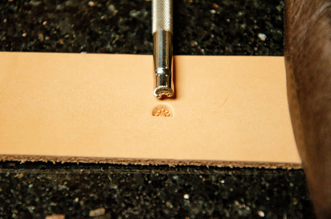 #1.5 5 Seed Border Leather Stamp