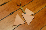 Triangle Leather Earring Blanks