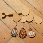 Tear Drop Leather Earring Blanks