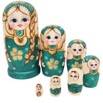 7pcs Lovely Girl Russian Nesting Dolls Handmade Wooden Matryoshka Toys Hand Painted Wood Baby Doll Toy Gift for Kids
