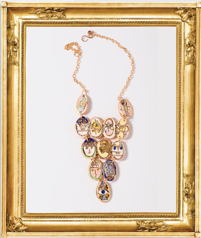Earnst Faces Necklace