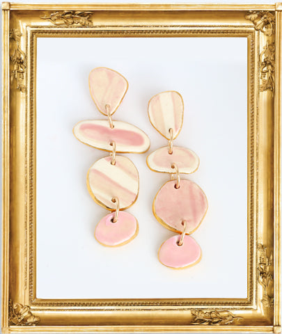 Dots #4 Solid Pale Pink  Earrings