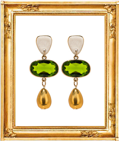 Emerald Tamago Earrings