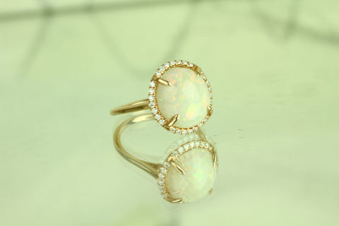 Opal dome ring