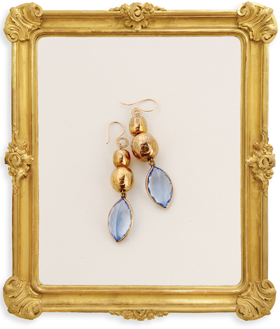 Marquise Channel Drop Earring