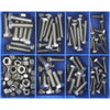 140Pc Unc Set Screw & Nut Assortment 316/A4