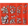 80Pc Rivet Nut insert Assortment-Steel