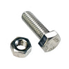 M12 X 45mm X 1.75 Set Screw W/Nut-Gr8.8-3Pk
