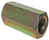 Metric Coupling Nuts 4.6 Yellow Zinc