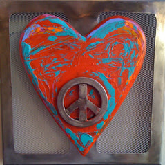 Metal Peace Heart
