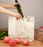 Sturdy Reusable Canvas Shopping Tote Bag for Groceries and Cotton Reusable Mesh Produce Bags