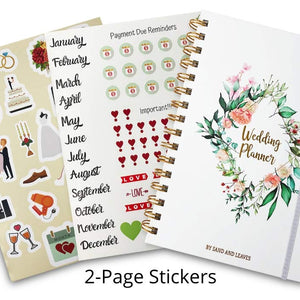 Simple Wedding Planner Notebook with Pockets, Stickers, and More | Ideal for Engagement Gifts for Couples and Bride to be Gifts