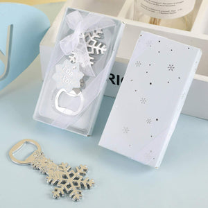 Yuokwer Snowflake Silver Metal Bottle Opener Wedding Favors Party Gift for Guests,Baby Shower Favors Gift & Party Decorations Supplies (New Snowflake 16pcs)