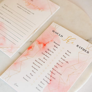Bridal Shower Games (Set of 7 Games, 30 Cards Each Thick Cardstock) - Pink & Gold Theme - (Suitable For All Ages) - Perfect For Celebrating Any Bride-to-Be At A Wedding Shower
