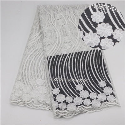 Gary 5 Yards African Lace Fabric Embroidered Nigerian Laces Fabric Bridal High Quality French Tulle Lace Fabric For Women Dress