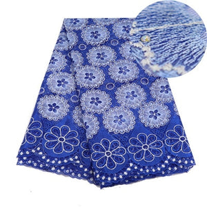 Blue Color French Nigerian Laces Fabrics High Quality Tulle African Laces Fabric Wedding African French Tulle Lace 5 Yards