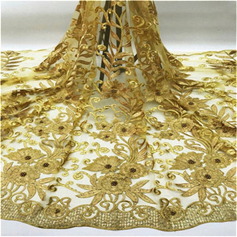 Black yellow Best Selling Latest African stones Lace Fabrics With beads High Quality Embroidery French Lace For Evening Dress