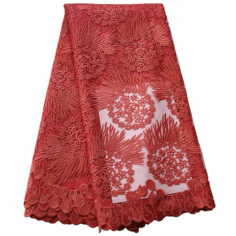 Weddings Lace fabric Embroidered Fabric 2019 Latest Nigerian African Lace Fabric For Aso Ebi