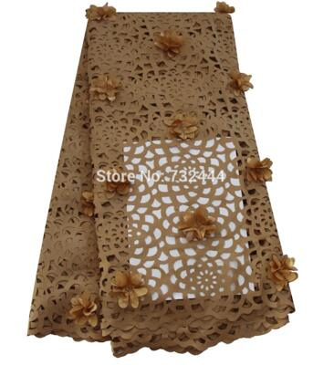 Laser Cut 3d lace fabric with flower african lace fabrics