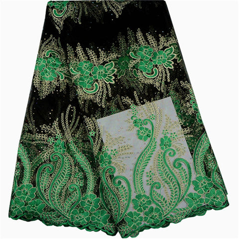 Latest Style Stones Lace Tulle African French Lace Fabric High Quality