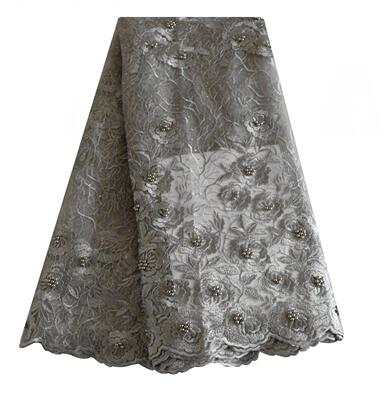 Latest lace style  african lace fabric high quality nigerian bridal mesh french lace