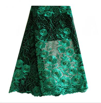Latest lace style grey african lace fabric high quality nigerian bridal mesh french lace 2018 wine black green tulle lace