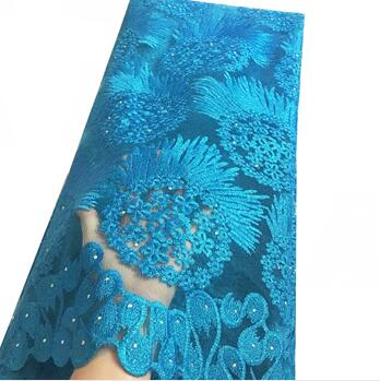 Turquoise Blue African Lace Fabrics High Quality  African Net Lace French Lace