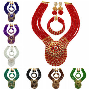 African Beads Jewelry Set  (16 Colors)