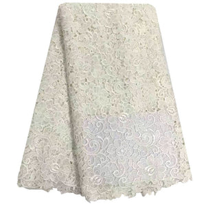 2016 Latest African Cord Lace High Quality Guipure Lace Fabric Chemical Water Soluble Embroidery For Wedding Dress Lace Fabric