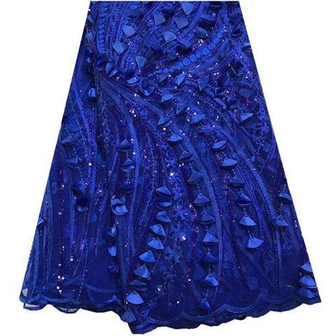 Newest High Quality Nigerian 3D Wedding Lace Fabric Latest African Laces 2018 French Net Lace Fabric With Sequins For Dress 925