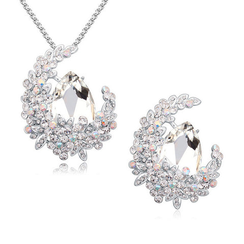 New Channel Jewelry Sets Drop Necklaces Pendants Brooches for wedding Made with SWAROVSKI Elements Crystals from SWAROVSKI