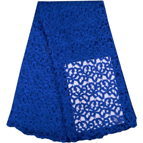 African Polyester Water Soluble Lace Fabric Nice Looking French Guipure Cord Lace Fabric For Party 765