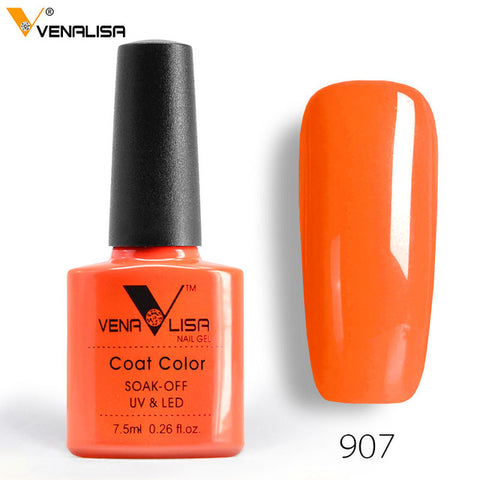 Venalisa 7.5ml soak off gel nail polish canni nail supply wholesale uv gel lacquer led color nail art glitter polish lamp