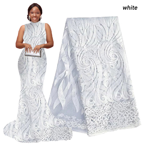 White african cord lace fabric african swiss voile lace high quality fashion french lace fabric for wedding lace 5yards/lot