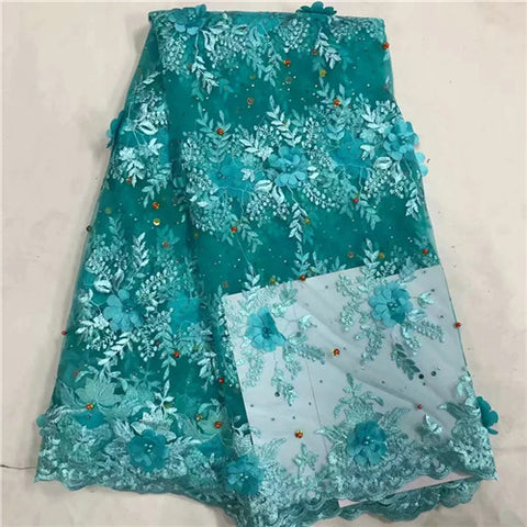 Latest Beaded Lace Fabric 2018 Fashion African Lace Fabric Tulle African French Lace Fabric High Quality Nigerian Fabrics XM1231