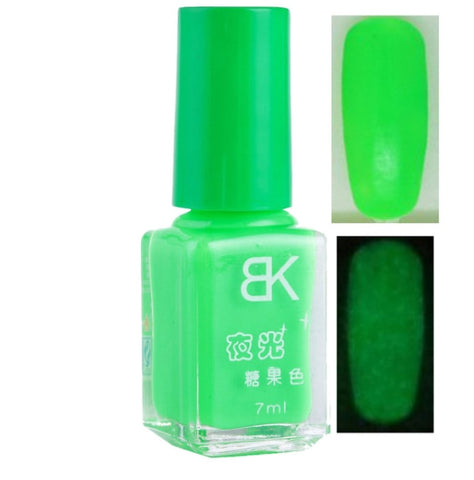 20colors Candy Nail Art Luminous Paint Nail Polish Neon Nail Lacquer Luminous Fluorescent Nail Gel Glow In The Dark
