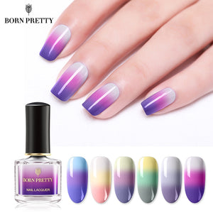 BORN PRETTY Thermal Nail Polish 6ml 3-layers Temperature Color Changing Nail Art Varnish DIY Manicure Supplies
