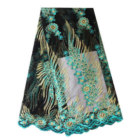Ourwin Nigerian Lace Fabric  High Quality Lace for Party Weeding Dress Mesh Embroidered Tulle French African Lace Fabric