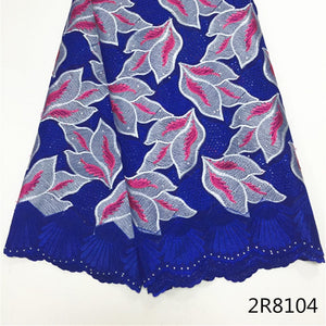 Beautifical Royal blue swiss voile lace pink/white embroidery cotton lace fabric high qualiyt african swiss lace fabric 2R81