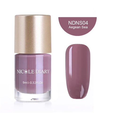 NICOLE DIARY Water Based Nail Polish Pearl Nail Art Lacquer Varnish 9ml Metallic Thermal Manicure Tips Color Polish 6ml