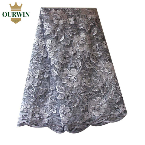 2018 Latest French Nigerian Laces Fabric High Quality Tulle African Laces Fabric Wedding African French Tulle Lace