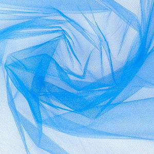 "Blue Party Tulle Net Fabric 54"" x 50 Yards - (Ships only to 48 Contiguous US States)"