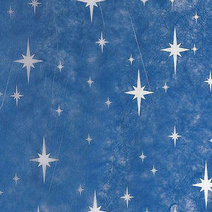BLUE WITH WHITE TWINKLE STAR GOSSAMER