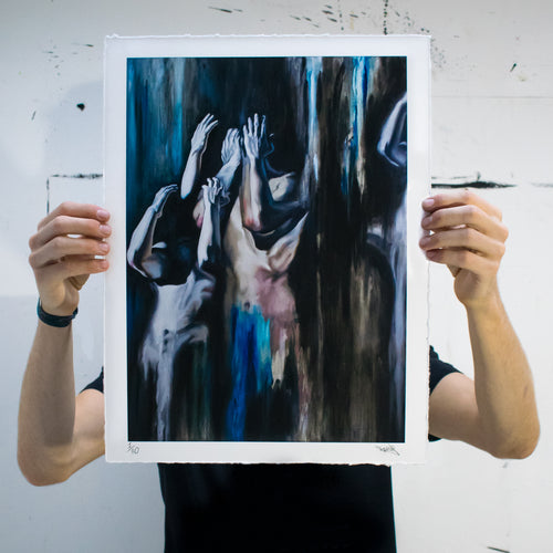 Sam King | Giclee of Descension Part 1 | Limited Edition of 30 | 45x35cm | 2018