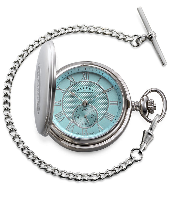 Dalvey Full Hunter Pocket Watch Turquoise 03342