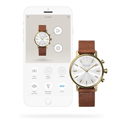 Kronaby Carat 38mm Smart Hybrid Watch S0717/1 connected